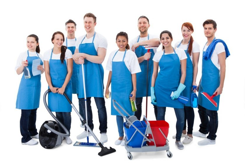 Services provided by a cleaning company